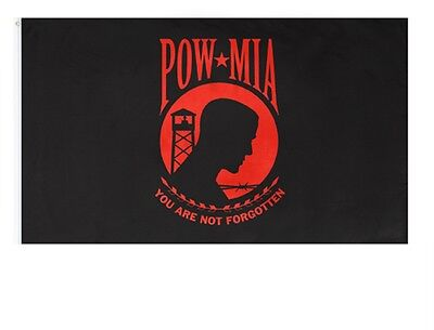 3 X 5 FLAG POW MIA 3'X5' USN USMC USAF US Marine Corps Army Navy Air Force RED
