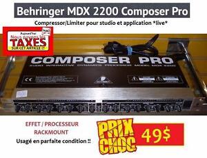 DERNIER JOUR PAS DE TAXES - Processeur d'effets BEHRINGER COMPOSER PRO MDX2200 ( compresseur / gate / limiter )