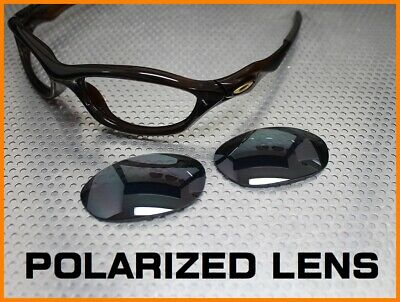 LINEGEAR Replacement Lens for Oakley UNKNOWN- Flash Black Polarized (Oakley Polarized Sunglasses Cheap)