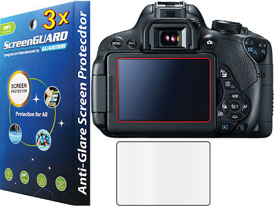 Used, 3x Anti-Glare Matte LCD Screen Protector Guard Camera Canon Rebel EOS 70D 80D for sale  Shipping to India