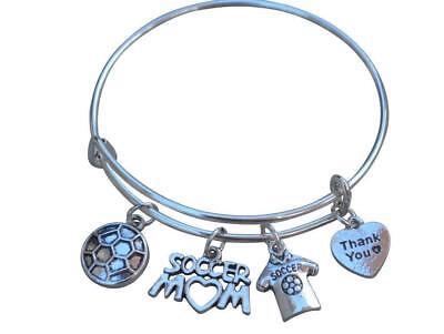 Soccer Mom Bangle Bracelet - Soccer Bracelet