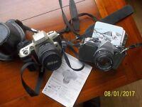Pentax ME Super and Nikon F60