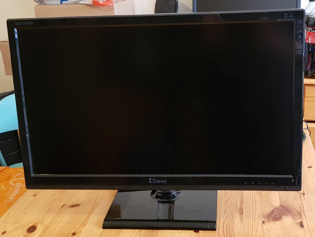 Qnix QX2710 - 2710 (27'', IPS, 1440p, overclockable to 105hz) | in Finsbury  Park, London | Gumtree