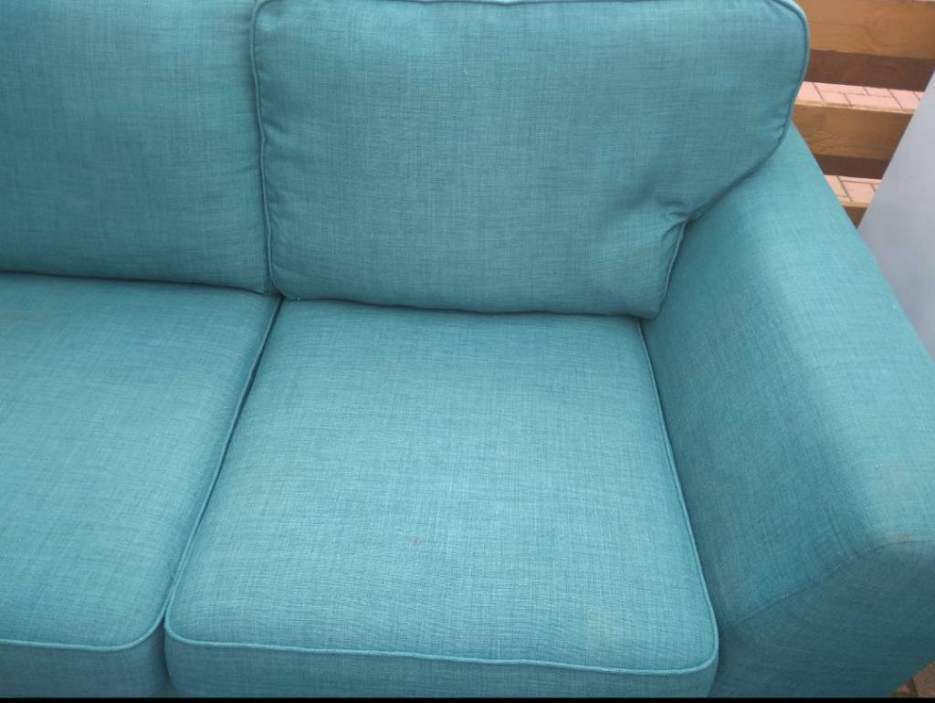 Dfs Teal Blue Duck Egg Sofa Excellent Condition In Larkhall South