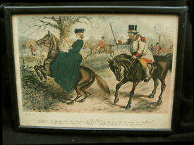 Four John Leach Hunting Prints