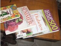 free assorted recipe books soft back 2 diabetic ,soups an desserts free for collection