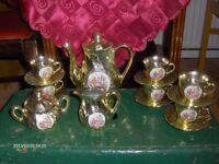 Vintage Tea Coffee Set Gold 15 Piece