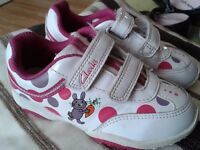 Girls Clark trainers with lights. Size 6