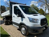 2015 64 FORD TRANSIT 350 TIPPER TRUCK, WHITE, SINGLE CAB, 2.2, NO VAT TO PAY!!