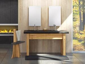 """Boreale Bathroom Furniture in Solid Submerged Wood with Slate Sink Counter top 31, 39, 47 & 61"""""""