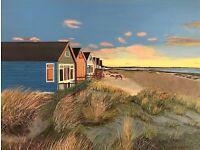 Beach huts at Mudeford limited edition print