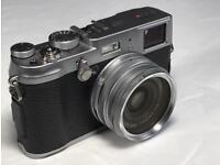Fuji x100s +GARITZ black leather case, b+w filter+ shade+ 4xbatterys