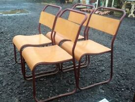 OLD SCHOOL STACKING CHAIRS - Adult Size Price per Chair