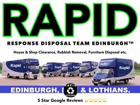 ♻ RAPID RESPONSE DISPOSAL™♻EDINBURGH HOUSE CLEARANCE ✔RUBBISH REMOVAL✔MAN AND A VAN Rated 5 ⭐⭐⭐⭐⭐