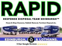 ☎️ RAPID RESPONSE™ 📞 HOUSE CLEARANCE, RUBBISH REMOVAL, JUNK UPLIFTS, Man And a Van, Disposal Team for sale  Holyrood, Edinburgh