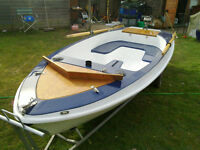 12' fibreglass boat and trailer