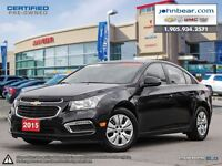 2015 Chevrolet Cruze 0.9% FOR 24 MONTHS 1.9% FOR 36 OR 2.9% FINA