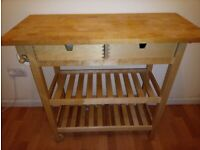 Kitchen table/bench/trolley with storage