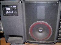 CERWIN-VEGA V-122 12 inch speaker full range PA cabinets - 300 Watts each. for sale  Kilburn, London