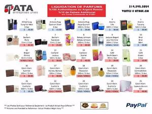 AUTHENTIC PERFUME LIQUIDATION SALE / PARFUMS AUTHENTIQUES a MOITIE PRIX