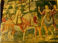 Antique Wall Picture Procession of the Magi by Benozzo Gozzoli