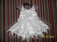 ADAMS LITTLE GIRLS FAIRY/ANGEL/WHITE HALLOWEEN/XMAS/FANCY DRESS AGE 5-6 YEARS