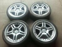 !! CLEARANCE !! Mercedes C class CLK 5x112 18'' ALLOY WHEELS AND TYRES 225/40/18