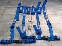 SPARCO 4 Point Driver Clip In Harnesses
