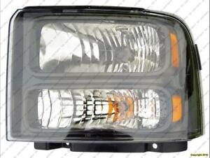 Head Light Driver Side Black Bezel With Harley-Davidson Package High Quality Ford F250 F350 F450 F550 2005-2007