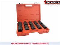 """Toolmate US PRO 11pc 1"""" Deep Impact Socket Set TM181 24-46mm"""