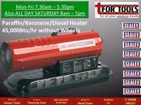 Sealey AB458 45,000Btu/hr Space Heater Warmer Paraffin / Kerosene / Diesel Heater