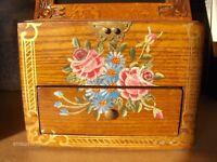 Large Vintage jewellery Box With Chest Of Drawer