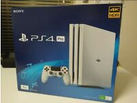 Ps4 pro white with 4 games. Perfect condition