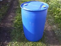 DRUMS BARRELS PLASTIC water containers