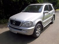 *WILLOW MOTORS OFFER A MERCEDES BENZ ML 270 CDI DIESEL AUTOMATIC * SAT NAV* LEATHER*