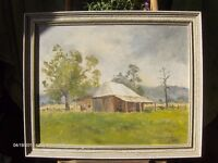 large oil painting landscape oil painting with cottage and tree s