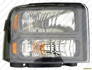 Head Lamp Passenger Side Black Bezel With Harley-Davidson Package High Quality Ford F250 F350 F450 F550 2005-2007