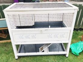 White small animal indoor hutch