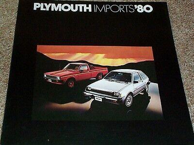 1980 Plymouth Sapporo Champ Arrow Pickup Sales Brochure