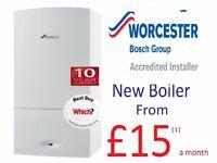 Worcester Bosch boiler from £15a month