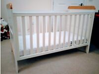 Mamas and Papas Prairie Cotbed and Sprung Mattress