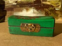 Set Of 2 Vintage Red and Green Chinese Pillow Box s jewellery Box