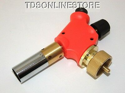 Adjustable Flame Instant Ignite Torch Head For Disposable Propane Tanks