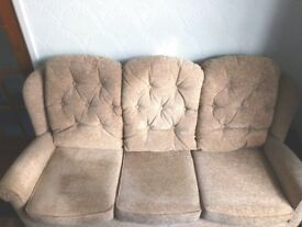 Sofa 3 seater beige