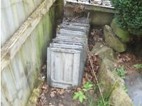 ROOF TILES free on collection - modern slot together - grey face- local abersychan