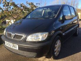 2005 VAUXHALL ZAFIRA 1.6 PETROL 7 SEATS+FULL VOSA HISTORY+TIMING BELT REPLACED+STARTS DRIVES WELL