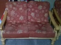 cottage style sofa and 2 chairs