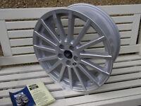 "Genuine Ford Focus 18"" RS Alloy Wheel 15 Spoke, 1695030 7.5j x 18"", Silver"