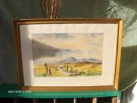 a Lovely Vintage painting landscape , Scottish Wall Art 1966