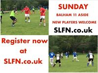 11 aside in BALHAM, this SUNDAY * NEW PLAYERS WELCOME* FOOTBALL TEAM IN SOUTH LONDON